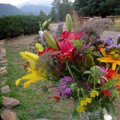 Estes Park wedding flowers