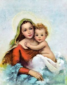 Madonna and the Infant Christ - Christmas images