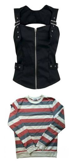 """Justine McCall tops"" by j-j-fandoms ❤ liked on Polyvore featuring tops, shirts, vest, corsets, sleeveless cotton tops, cotton sleeveless shirts, corset tops, metal top, no sleeve shirt and sweaters"