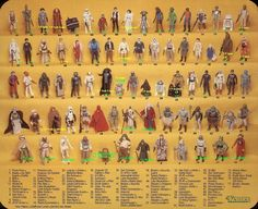 Star Wars figures. I had all the original figures from the first 3 films.