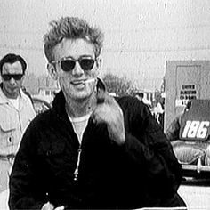 James Dean candid | Candid footage of James Dean at a race in Santa Barbara, 1955.