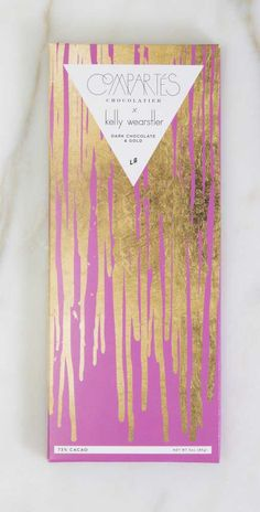 KELLY WEARSTLER X COMPARTES | FLOURISH. Dark Chocolate and 24k Edible Gold