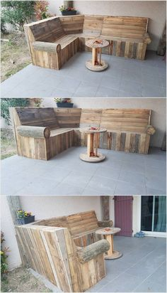 In most of the house locations you will be catching the placement of the wood pallet couch furniture set. In this whole set you would be adding the flavors of the center round table too that ends the whole look of the set in a wonderful aspects. This furniture set is perfect to locate it in your garden areas.
