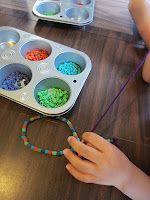 Rainbow Colored Pasta Beading!!