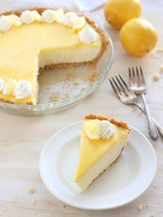 Lemon Mousse Pie with Shortbread Crust