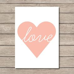 NURSERY PRINTABLE  love heart print  Wall Art  by PrettyPrintShop, $2.00