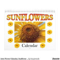 2021 Flower Calendar, Sunflower Calendar