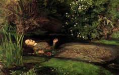 Ophelia....too bad the model for this painting died. Links to hypothermia apparently. Shortly after this.