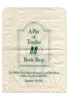 To Have and To Hold. The paper bag colletion. Trindles Book shop