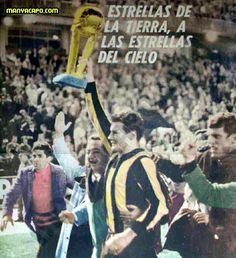 Penarol of Uruguay are crowned World Club Champions in 1966 after beating Real Madrid for the Intercontinental Cup.
