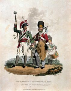 Drum Major of a Regiment of the Line. Pioneer of the Grenadier Company of D, 1812