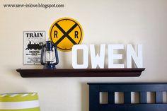 Sew In Love: All Aboard! Next Stop: Owen's Big Boy Room  Train Room