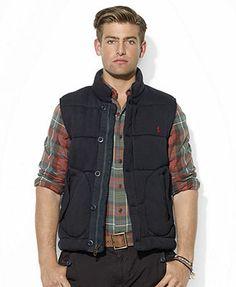 Polo Ralph Lauren Vest, Zip-Front Quilted Fleece Vest
