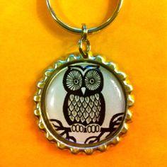Owl keychain Owl Keychain, Owl Jewelry, Owls, Brooch, My Love, Owl, Tawny Owl