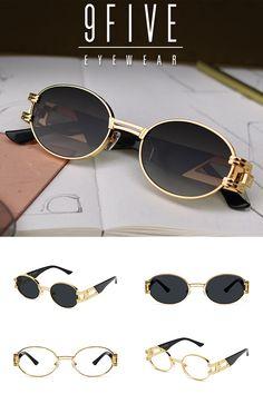 21472abad7ed 9FIVE St. James Black   24k Gold Sunglasses