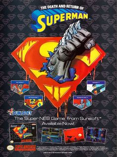The Death and Return of Superman SNES magazine ad (1994)