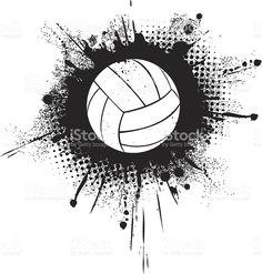Ballon de volley stock vecteur libres de droits libre de droits