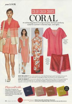 Color Crash Course: Coral #instyle