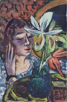 Max Beckmann - Frau mit Orchidee 1940