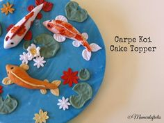 Carpe Koi Cake Topper