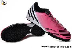Star's favorite Adidas Predator LZ TRX TF Super Pink-White-Black Released Soccer Shoes On Sale