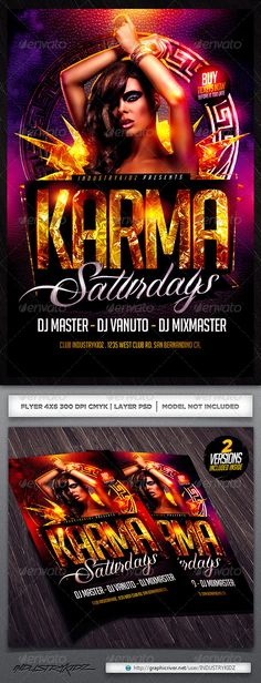 Karma Flyer Template — Photoshop PSD #industrykidz #club • Available here → https://graphicriver.net/item/karma-flyer-template/5479943?ref=pxcr