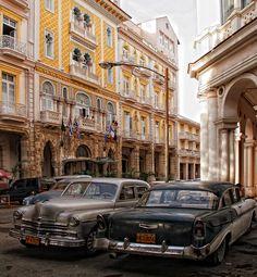 Old School Havana Taxis  #Havana #Cuba #Taxis