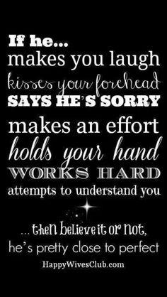 If he...