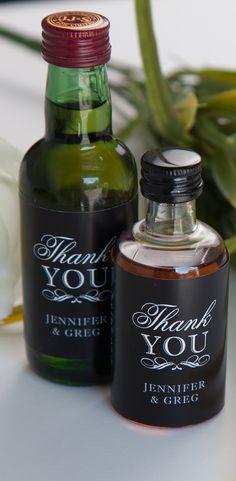 Mini Liquor Wedding Favors - Unique Wedding Ideas