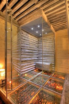 nuova sede studio dada architecture + design, Crans-Montana, 2012 - Davide… Saunas, Home Spa Room, Spa Rooms, Sauna House, Sauna Room, Jacuzzi, Spa Interior Design, Sauna Design, Home Spa Treatments