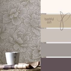 Perfect bedroom colour scheme in soft gray shades.