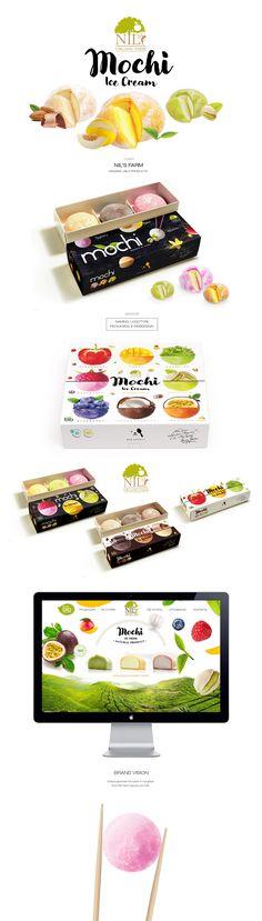 Mochi Ice Cream package / logotype design