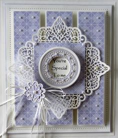 Hello bloggers!  I really like the way this one came out and thought it would make a nice offering for the Wednesday Card Giveaway card.  I started with a piece of the pale lavender patterned paper f