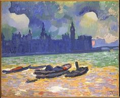 André Derain - The Palace of Westminster, 1906-07.