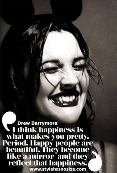 ~Drew Barrymore: another example of a different and feminine kind of Enneagram One.