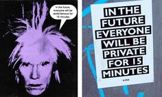 An interesting question: would Andy Warhol have a different opinion if he lived today with social media? History Class, Art History, Art Class Rules, Art Ideas, Room Ideas, Trending Art, Media Literacy, Political Art, Found Art