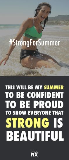 The official start of summer is only 21 Days away! In order to keep you more inspired than ever, we are doing 21 Days of Giveaways. Daily winners will be picked to win a 30-day supply of Shakeology, an extra set of containers and apparel. Here's how to enter: http://bit.ly/1Q1oCop quotes // quotes // fitspo // fitspiration // exercise // fitness // 21 day fix // fitness // workout // inspiration