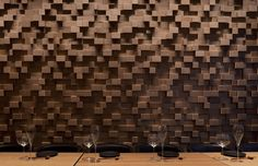 Taizu Restaurant / Pitsou Kedem Architects + Baranowitz-Amit Design Studio Timber Walls, Timber Panelling, Commercial Interior Design, Commercial Interiors, Architecture Details, Interior Architecture, Design Studio, House Design, Pitsou Kedem