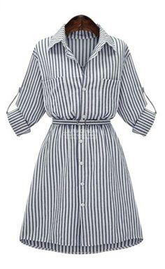 купить летнее полосатое платье  http://got.by/1n6zgb  платье-рубашка