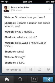Sherlock/The Hobbit/Star Trek Into Darkness crossover - gotta love 'em