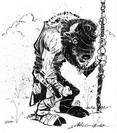 The Last Bison Wizard  DM FOR ORIGINAL.  #draw #instaartist #instagram #artist…