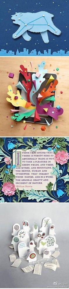 Paper art fairy tale world, from designer Owen Gilder ...