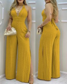 Long Jumpsuits, Jumpsuits For Women, Two Piece Pants Set, One Piece, Classy Outfits, Cute Outfits, Bikini Outfits, Girl Photo Poses, I Dress