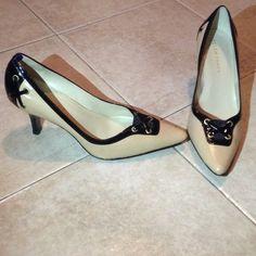 "ELLEN TRACY Tan & Black Heels Shoes Size 8M ELLEN TRACY Black & Tan Women's Heels Shoes. Grommets with criss cross design. Size 8M. In excellent condition. ""PRICE IS FIRM"" Ellen Tracy Shoes Heels"