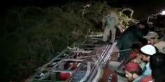 Five injured as bus falls from #Karachi's #NathaKhan bridge