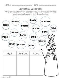 VERBOS, SUSTANTIVOS, ADJETIVOS ¡OH NO! - TeachersPayTeachers.com