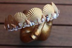 Gold mermaid crown