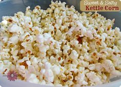 Sweet & Salty Kettle Corn Recipe, How to make Kettle Corn at home; Mom's Tricks and Treats #recipe #kettlecorn #snacks