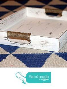 Nautical Wooden Serving Tray, Coastal Ottoman Tray, White Chippy Serving Tray, Distressed Bed Tray from The Appalachian Artisans https://www.amazon.com/dp/B0197YHJJE/ref=hnd_sw_r_pi_dp_oZFLxb5PF28YR #handmadeatamazon