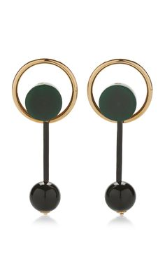 Emerald Green Earrings With Resin by MARNI for Preorder on Moda Operandi